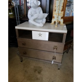 Weathered / Marble Night Stand
