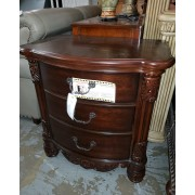 Brown Three Drawer Night Stand