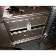 Silver Night Stand Mirrored Accent
