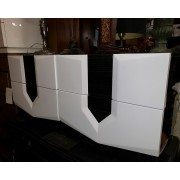 Two White/Grey Modern Night Stands