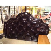 Black Patent Headboard - (10524-2)