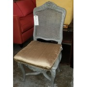 Grey Chair With Gold Cushion