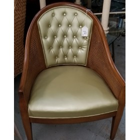 Wood/Gold Side Chair