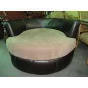 Large Round Tan Chair