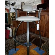 Dark Brown / Metal Bar Stool With Cushion