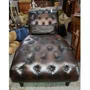 Brown Chaise With Pillow