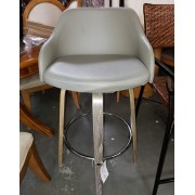 Gray / Gold Bar Stool