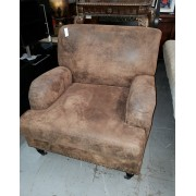 Brown Studded Arm Chair
