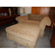 Tan Chair & Ottoman