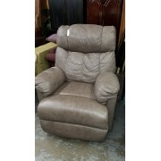 Taupe Leather Recliner