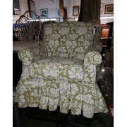 Green / White Floral Chair