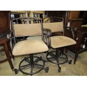 Set of Four Metal Counter Stools