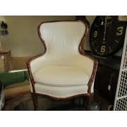 Bamboo / Cream High Back Chair