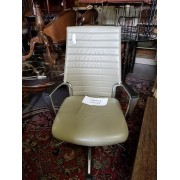 Beige / Chrome Leather Chair