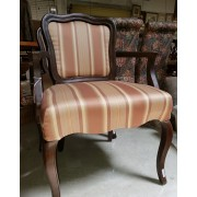 Brown / Tan Striped Chair