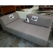 Grey / Wood Fabric Bed/Lounger