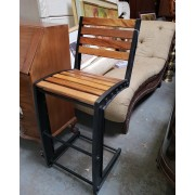 Wood / Metal Bar Stool