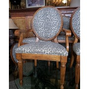 Set of 10 Leopard Print Chairs