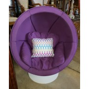 White / Purple Egg Chair