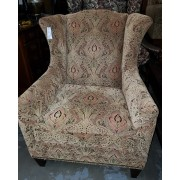 Hooker - Upholstered Paisley Green Arm Chair