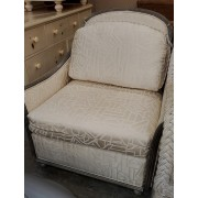 White / Silver Arm Chair