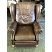 Sherrill - Brown Studded Recliner