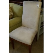 Four Cream / Wood Dining Chairs