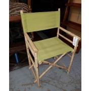 Bamboo / Green Directors Chair