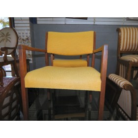 Gold / Wood Arm Chair
