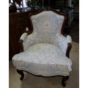 Upholstered Wood Trim Arm Chair