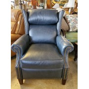 Blue / Charcoal Studded Recliner