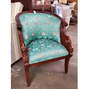 Green Curved Chair / Swan Sides