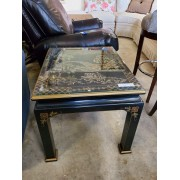Black Asian End Table