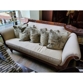 Tommy Bahama Sofa With Five Palm Pillows