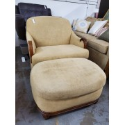 Lexington - Yellow Chair & Ottoman