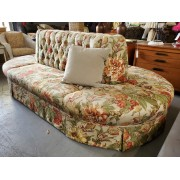 Large Oval / Floral Ottoman