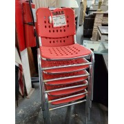 Red Stacking Chairs