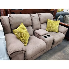 Taupe Reclining Love Seat