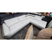 White / Grey Sectional AS IS