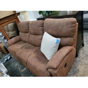 LA Z BOY Tan Reclining Sofa
