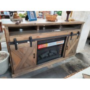 Pullman Rustic Fireplace / TV Stand