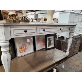 Salinas Distressed White Desk