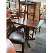 Table With Studs / Four Wood Stools