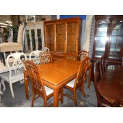Wood Dining Table With Hutch