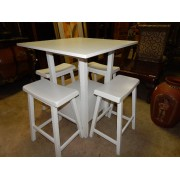 White Wood Bistro Table