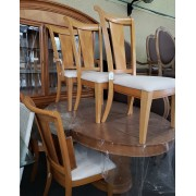Triangle Design Dining Table With 5 Chairs