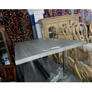 Grey Solid Top Dining Table