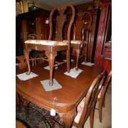 Vintage Dining Table / Six Chairs