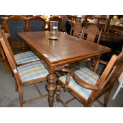 Wood Dining Table With Five Chairs