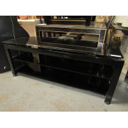 Black - Three Tier TV Stand